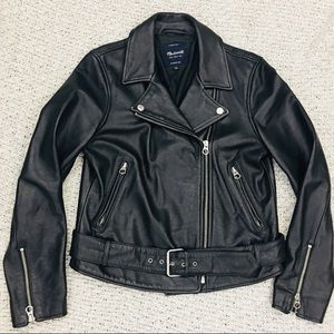 Madewell Ultimate Leather Motorcycle Jacket Large
